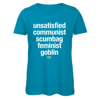 Feminist Goblin - Women's Fitted Colour T-Shirt Thumbnail